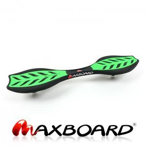 Maxboard grün ohne Helm DAS ultimative Waveboard für/'s Streetsurfing original